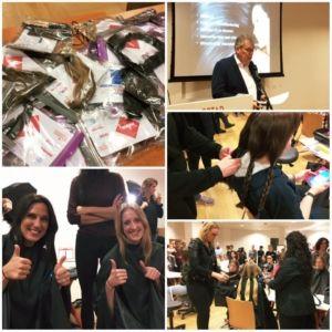 Linda en Krystle van Stichting OOK deden ook mee! Haardonatie Wereldkankerdag