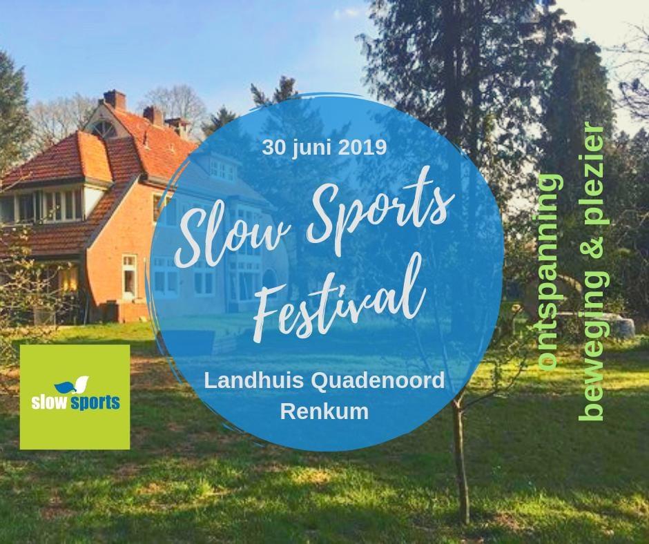 Flyer Slow Sports Festival Renkum - Sttichting Optimale Ondersteuning bij Kanker