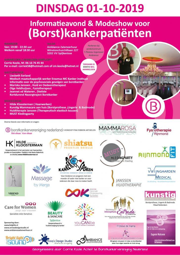 Poster Spijkenisse borstkanker - Stichting Optimale Ondersteuning bij Kanker